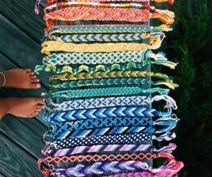colors, rainbow, and friendship bracelets image