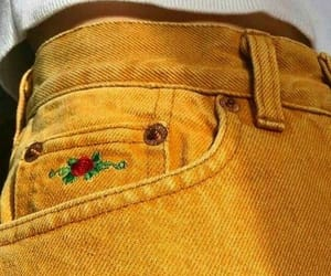 yellow, aesthetic, and jeans image