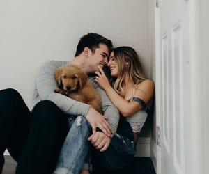 couple, dog, and goals image