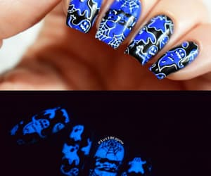 blue nails, ghosts, and glitter image