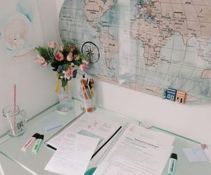study, school, and desk image
