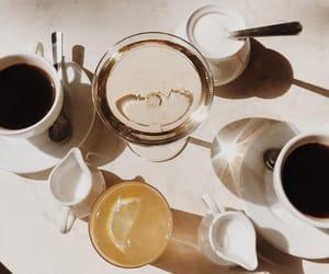 aesthetics, black coffee, and breakfast image