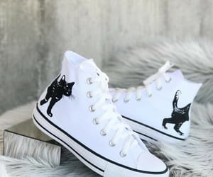 all star, cats, and knee-high image