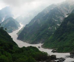 creek, japan, and mountains image