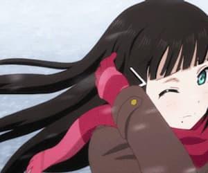 anime girl, beautiful, and gif image