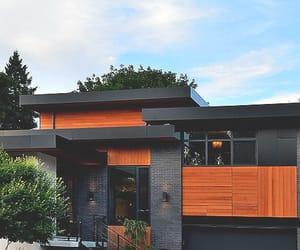 black and orange, modern, and house image