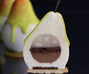 chocolate, dessert, and pear image