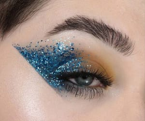 art, blue, and eyeshadow image