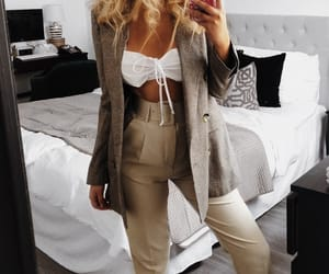 beige, blogger, and fashion image