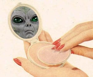 alien, makeup, and space image