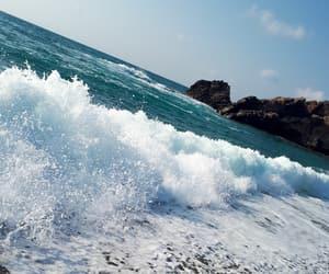 beach, blue, and crete image