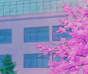 anime and building image