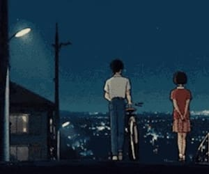 anime, bicycle, and street image