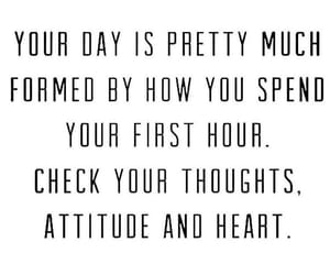 attitude, hour, and quote image