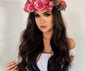 girl, brunette, and beauty image