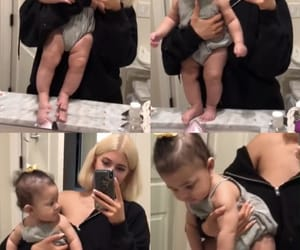 kylie jenner, mom life, and baby stormi image