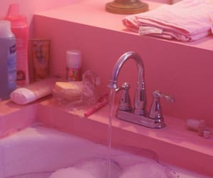 foam, pink, and sink image
