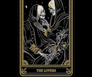 aesthetic, lovers, and tarot cards image