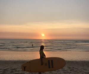 session, sunset, and surf image