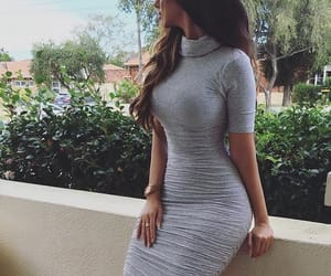 dress, grey, and bodycon dress image