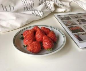 aesthetic, minimalistic, and strawberries image