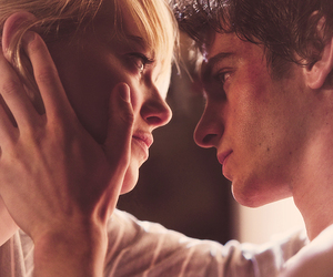 andrew garfield, emma stone, and love image