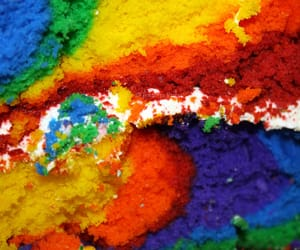 rainbow, cake, and colors image