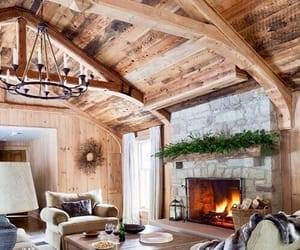 home, fireplace, and living room image