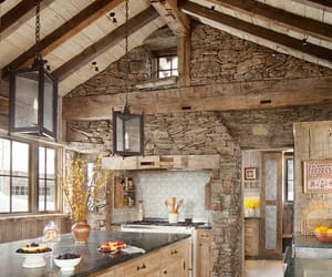 decor, log cabin, and home image