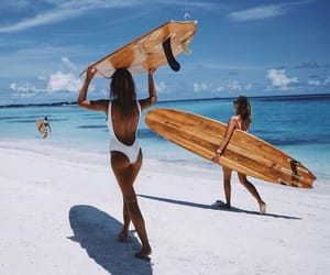 summer, beach, and surf image