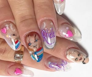 aesthetic, nails, and Chucky image