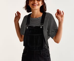 black, dungarees, and girls image