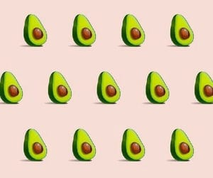 avocado, wallpaper, and pink image