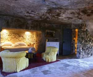cave, hotel, and italy image
