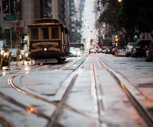 city, san francisco, and tram image