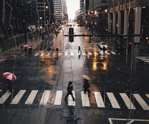 city, rain, and street image