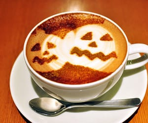 Halloween, coffee, and pumpkin image