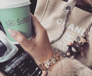 chanel, coffee, and nails image