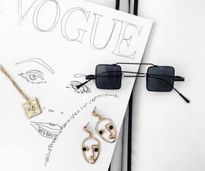 art, white, and earrings image