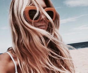 accessories, blonde, and beachy image