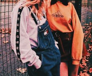 fashion, friends, and adidas image