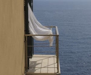 balcony, ocean, and aesthetic image