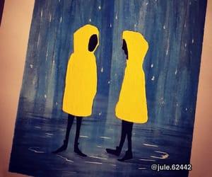 art, rain, and melancholy image
