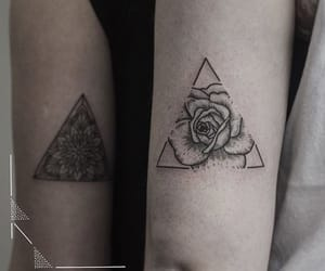rose, tat, and tattoo image