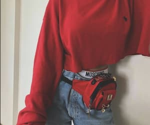 red, fashion, and outfit image