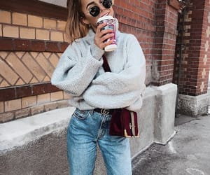 clothes, outfit, and coffee image