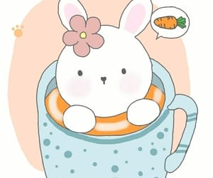 blue, rabbit, and cup image