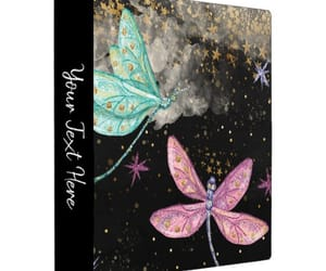 dragonflies, glitter, and glam image