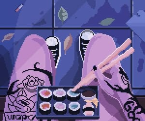 aesthetic, lovely, and sushi image