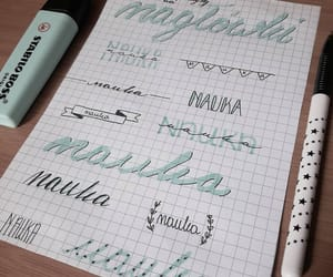 handlettering, notes, and typography image